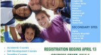 Summer Session registration will be opening on the following dates: Tuesday, April 6th– Secondary Program Tuesday, April 13th– Elementary Program Please click here for brochure: Elementary Summer Session 2021